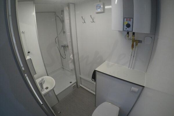 Kontorvogn med tekøkken og badeværelse Vejle