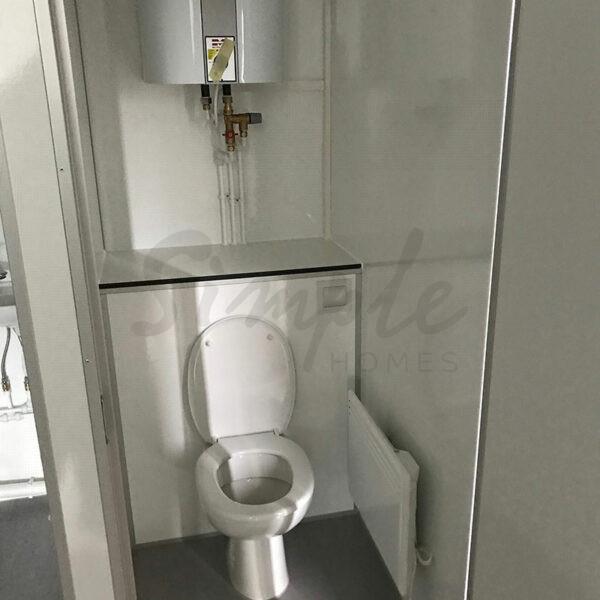 Mandskabsvogn med toilet til leje