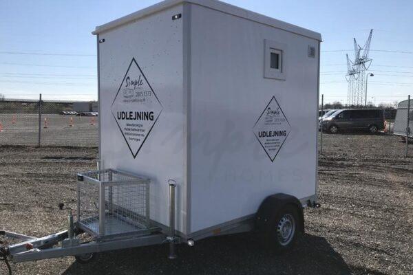 Mobilt badeværelse med vaskemaskine/tørretumbler