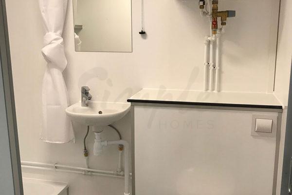 Multivogn med tekøkken og badeværelse