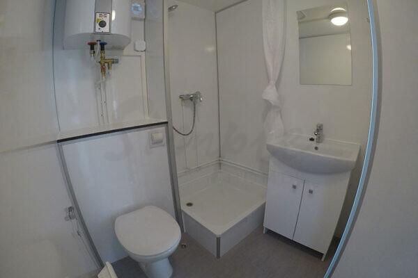 Beboelsesvogn med bad og toilet