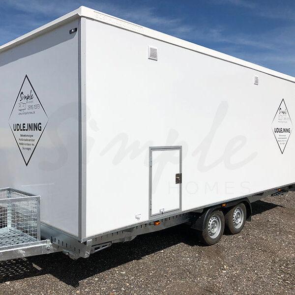 Køkkenvogn m/ badeværelse til leje